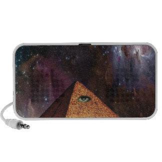 Misterio galáctico de Illuminati Laptop Altavoces
