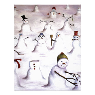 Misterio revelador en la colina del muñeco de niev plantilla de membrete