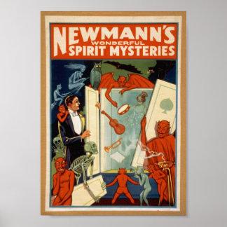Misterios del alcohol, poster del vintage, C. 1911