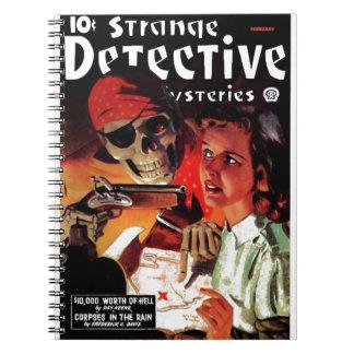 Misterios detectives extraños libretas