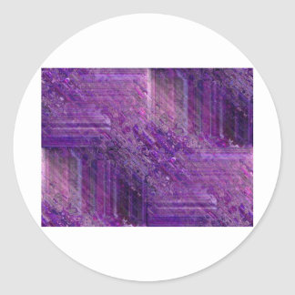 Mística púrpura pegatina redonda