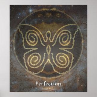 Místico - perfección - emane la presencia póster