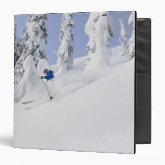 Mistie Fortin skis powder 3 Ring Binder