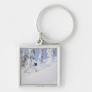 Mistie Fortin skis powder Keychains