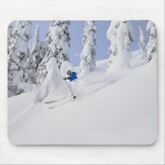 Mistie Fortin skis powder Mouse Pad