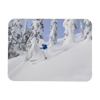 Mistie Fortin skis powder Rectangle Magnet
