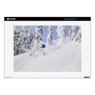 Mistie Fortin skis powder Decals For Laptops