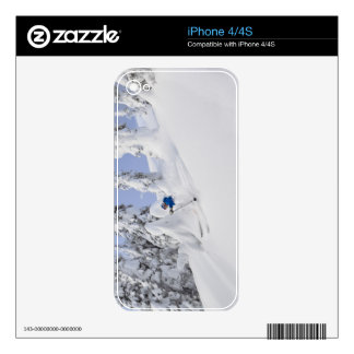 Mistie Fortin skis powder Skin For iPhone 4S