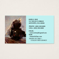 MISTING EVENING TRAIN ON RAILROAD ~BUSINESS CARDS! BUSINESS CARD