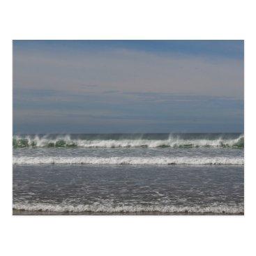 Beach Themed Misting Waves Postcard