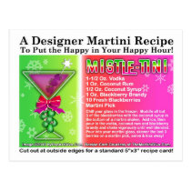 Mistle-Tini Christmas Martini Recipe Postcard