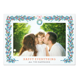 Mistle Wreath - Holiday Photo Card