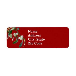Mistletoe Address Labels