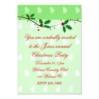 """Mistletoe and Christmas Tree Invitation 5"""" X 7"""" Invitation Card"""