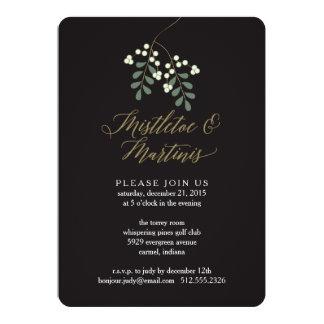 Mistletoe and Martinis Holiday Party Invitation