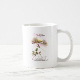 Mistletoe and Sledders Vintage Christmas Coffee Mugs