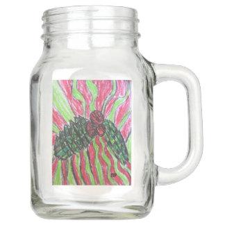 Mistletoe art mason jar