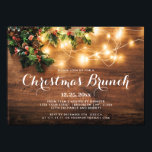 """Mistletoe Branch Rustic Holiday Christmas Brunch Invitation<br><div class=""""desc"""">Mistletoe Branch Rustic Holiday Christmas Brunch Invitation. You can edit the design as you wish, including changing """"Holiday"""" to """"Christmas"""" by clicking the """"customize further"""" link and modify this template. If you prefer Thicker papers / Matte Finish, you can switch the type in the setting on the right. If you...</div>"""