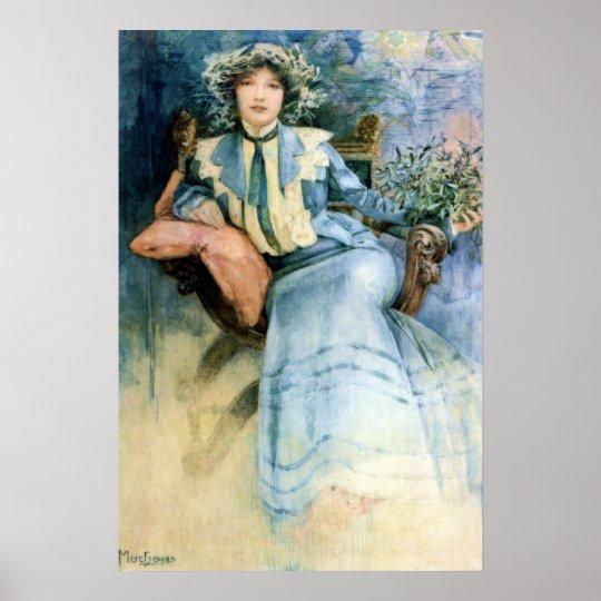 Mistletoe by Alphonse Mucha Poster