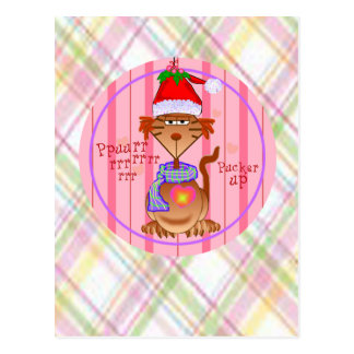 Mistletoe Cat Post Card