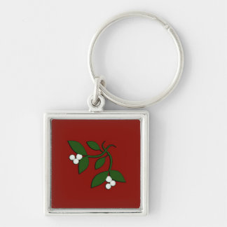 Mistletoe Christmas Design Keychain