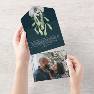 Mistletoe Elegant Christmas Card