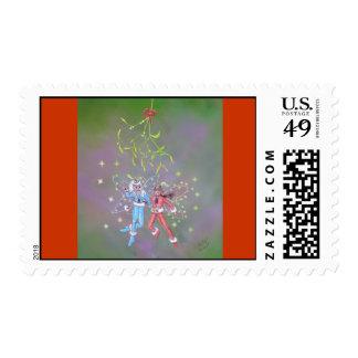 Mistletoe Fairies Holiday Postage