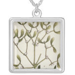 Mistletoe from 'A Curious Herbal', 1782 Square Pendant Necklace