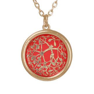 Mistletoe Gold Plated Necklace