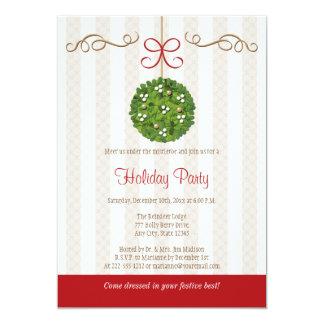 MISTLETOE HOLIDAY PARTY INVITATIONS