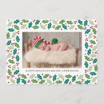 Mistletoe Holiday Photo Card