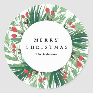 Mistletoe Holiday Sticker