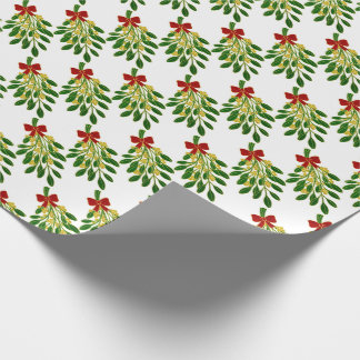 Mistletoe Jewel Tones Your Background Wrapping Paper