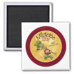 Mistletoe Kiss - Christmas Fridge Magnet