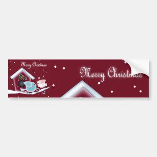 mistletoe Kiss Love Birds Our First Christmas Bumper Sticker