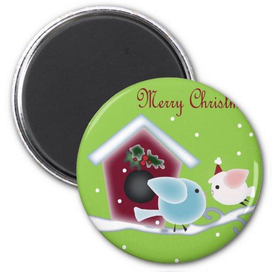 mistletoe Kiss Love Birds Our First Christmas Magnet