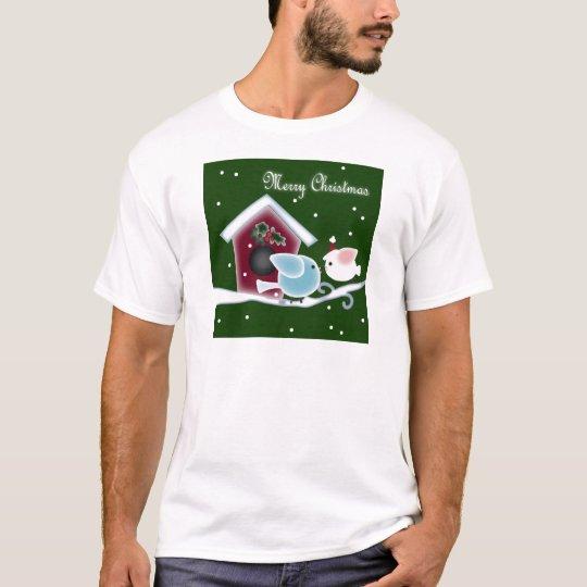 mistletoe Kiss Love Birds Our First Christmas T-Shirt