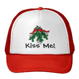 """Mistletoe """"Kiss Me""""  Christmas Cap Trucker Hat"""