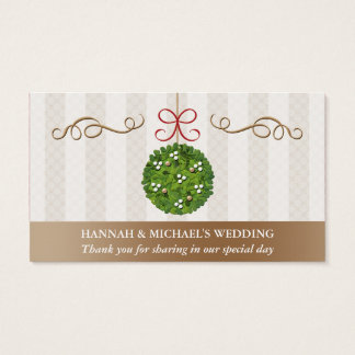MISTLETOE KISSING BALL Seating Place Card