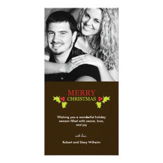 Mistletoe Love Holiday Photo Card Photo Card Template