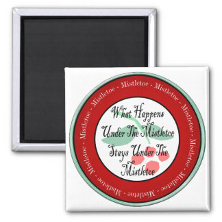 Mistletoe Madness 2 Inch Square Magnet
