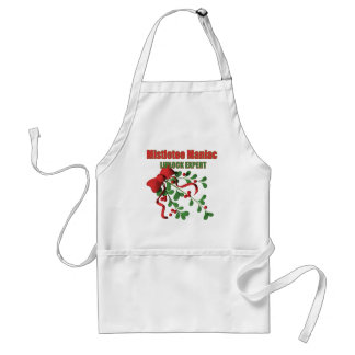 Mistletoe Maniac Aprons
