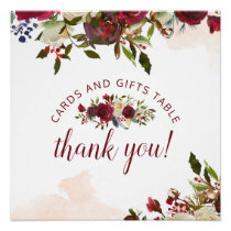 Mistletoe Manor Cards & Gifts Wedding Table Sign