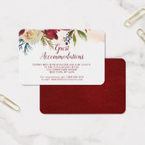 Mistletoe Manor Guest Accommodations Insert Card