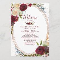 Mistletoe Manor Rose Gold Oval Wedding Ceremony Program