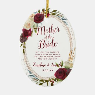 Mistletoe Manor To the Mother of the Bride Quote Ceramic Ornament