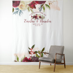 Mistletoe Manor Wedding Photo Booth Backdrop