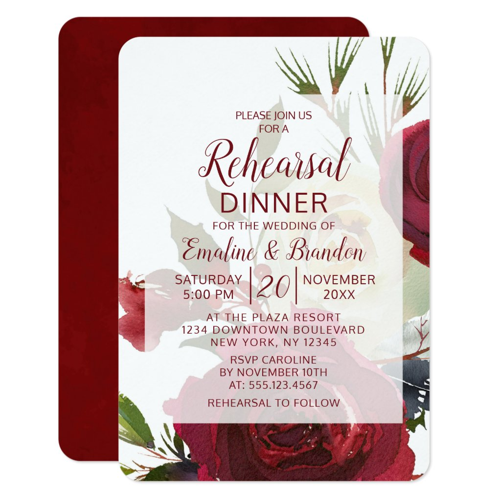 Mistletoe Manor Winter Wedding Rehearsal Dinner Invitation