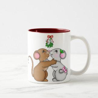 Mistletoe Mice Cheers Mugs