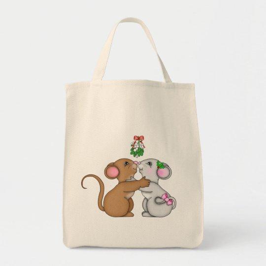 Mistletoe Mice Cheers Tote Bag